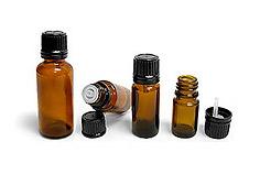 Glass bottles rose oil packaging