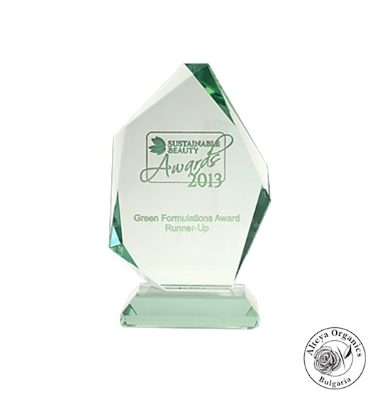 Sustainable Beauty Award – Green Formulations - Alteya 2013